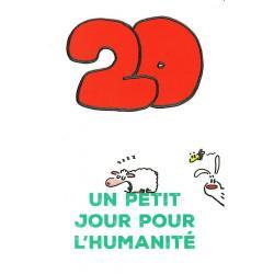 Carte Show lapin - 20 ans un petit jour pour l'humanité... - Carte anniversaire