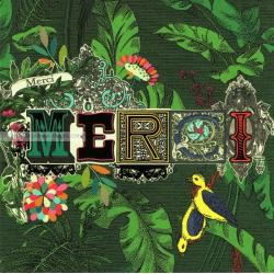 Carte Merci merci - Collection Caractère - CAR046- 14.5x14.5 cm