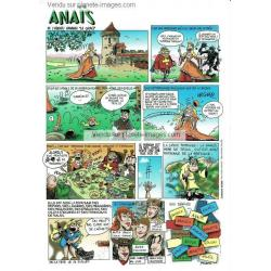Carte prénom en BD - Anaïs - 15x21 cm