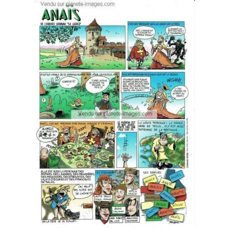 Carte prénoms en BD - Anaïs - 15x21 cm