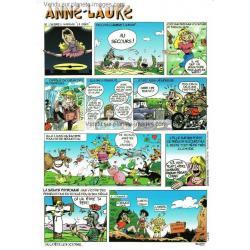 Carte prénom en BD - Anne Laure - 15x21 cm