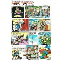 Carte prénom en BD - Anne Sophie - 15x21 cm