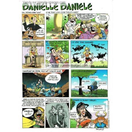 Carte prénoms en BD - Danielle - 15x21 cm
