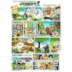 Carte prénom en BD - Jennifer - 15x21 cm