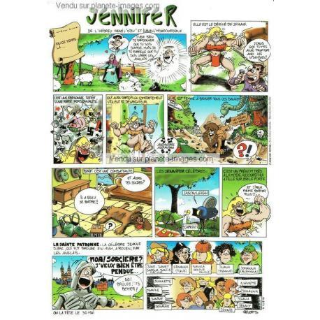Carte prénoms en BD - Jennifer - 15x21 cm