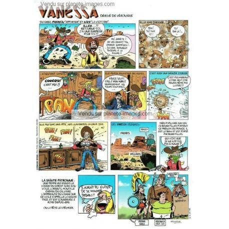 Carte prénom en BD - Vanessa - 15x21 cm