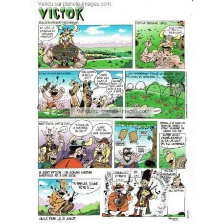 Carte prénom en BD - Victor - 15x21 cm