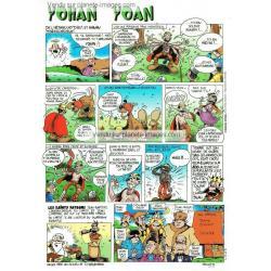 Carte prénom en BD - Yohan - 15x21 cm