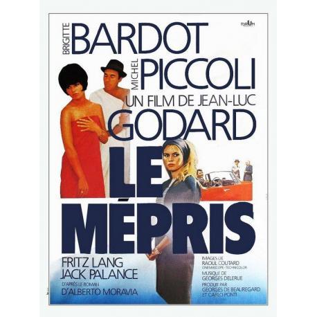 Affiche Le Mépris avec Brigitte Bardot - Jean-Luc Godard - 40x53 cm