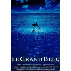 Affiche Le grand bleu avec Jean Reno - Luc Besson - 40x53 cm Pliée