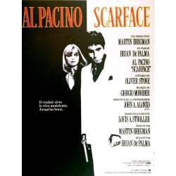 Affiche Scarface avec Al Pacino - Steven Spielberg - 38x53 cm Pliée