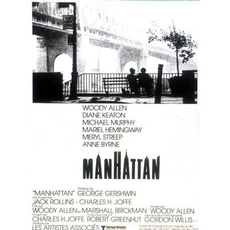 Affiche Manhatan avec Diane Keaton - Woody Allen - 40x54 cm