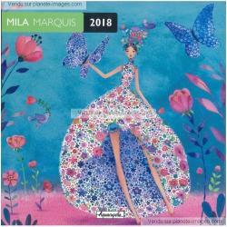 Calendrier 2018 Mila Marquis - La danse des papillons - 30x30 cm