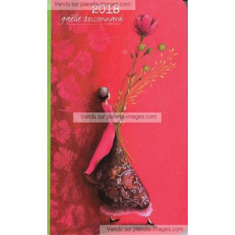 Agenda 2018 Gaëlle Boissonnard - Le bouquet géant - 10x16.6 cm
