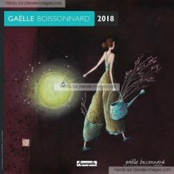 Calendrier 2018 Gaëlle Boissonnard - Le lampion vert - 30x30 cm