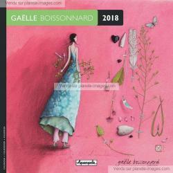 Calendrier Gaëlle Boissonnard 2018 - Jardin mural - 16x16 cm