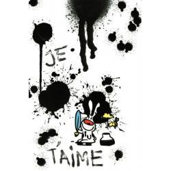 Carte Show lapin - Je t'aime... - Carte amour