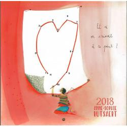 """Calendrier Anne-Sophie Rutsaert 2018 """"Et si on s'aimait à ce point"""" 20x20 cm"""