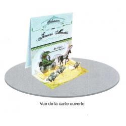 Carte 3D à poser - Félicitations aux jeunes mariés - 8x16x16 cm