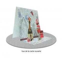Carte 3D à poser - Félicitations - 8x16x16 cm