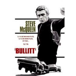 Affiche Steve Mc Queen - Bullitt - Affiche 50x70 cm