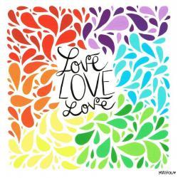 Carte Mathou - Love - 14x14 cm