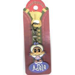 Porte-clés Zipper prénom ADELE - 6.5x 3 cm env