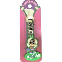 Porte-clés Zipper prénom ADELINE - 6.5x 3 cm env