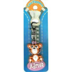 Porte-clés Zipper prénom ADRIEN- 6.5x 3 cm env