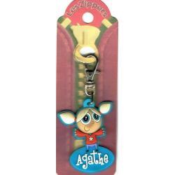 Porte-clés Zipper prénom AGATHE - 6.5x 3 cm env