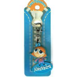 Porte-clés Zipper prénom ALEXANDRA - 6.5x 3 cm env