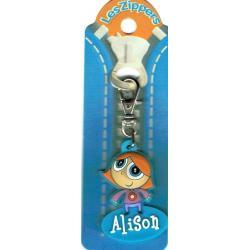Porte-clés Zipper prénom ALISON - 6.5x 3 cm env
