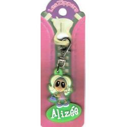 Porte-clés Zipper prénom ALIZEE - 6.5x 3 cm env