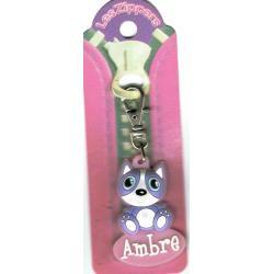 Porte-clés Zipper prénom AMBRE- 6.5x 3 cm env