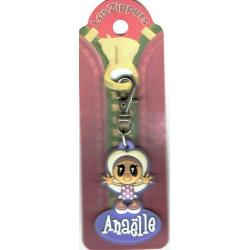 Porte-clés Zipper prénom ANAELLE - 6.5x 3 cm env