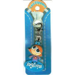 Porte-clés Zipper prénom ANGELIQUE - 6.5x 3 cm env