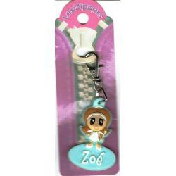 Porte-clés Zipper prénom ZOE - 6.5x 3 cm env
