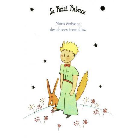 Carte Le Petit Prince De Saint Excupéry Nous écrivons Des Choses éternelles 10x15 Cm Planete Images Com