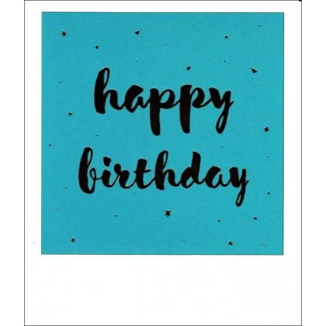 Carte citation - Happy birthday - Polaroid colorchic 10x12 cm