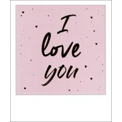 Carte citation - I love you - Polaroid colorchic 10x12 cm