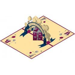 Carte Relief Pop Up - Joyeux Anniversaire : Cadeaux et ballons - PL15 - 11.7x16.75 cm