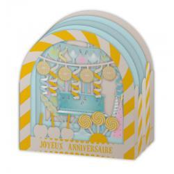 Carte Relief Pop Up - Joyeux anniversaire : Cotillons - PL27 - 11x5x11.5 cm