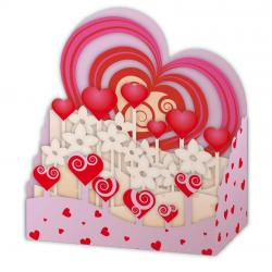 Carte Relief Pop Up - Le champ de coeurs - PL33 - 11x5x11.5 cm