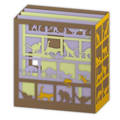 Carte Relief Pop Up - Les chats - PL35 - 11x5x11.5 cm