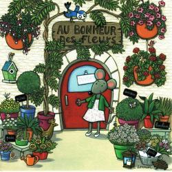 Carte Christine Donnier : Titi Pinson - Au bonheur des fleurs - 13.5x13.5 cm