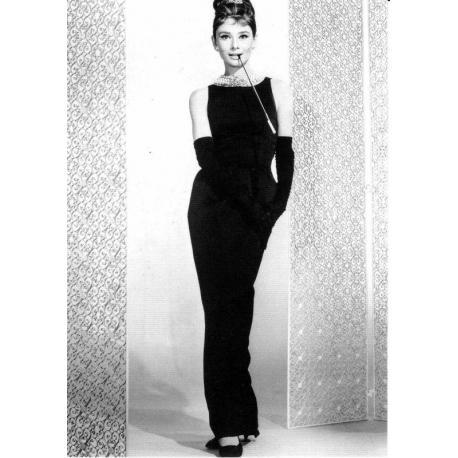 Carte Audrey Hepburn - Breakfast at Tiffany's 1961 - 10.5x15 cm