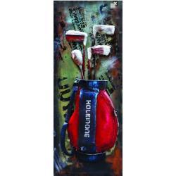 Plaque métal - Sac de golf - 40x100 cm