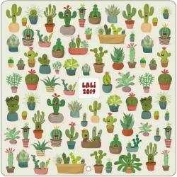 Calendrier collector Lali 2019 - Cactus - 30x30 cm