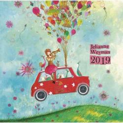 Calendrier collector Jehanne Weyman 2019 - Dancing in the rain - 20x20 cm