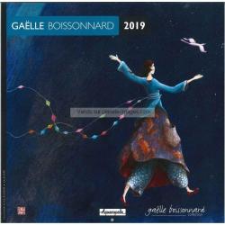 Calendrier collector 2019 Gaëlle Boissonnard - Promenade spatiale- 30x30 cm